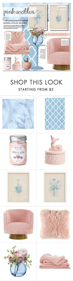"""Decorate with Pink & Blue"" by lifestyle-ala-grace ❤ liked on Polyvore featuring interior, interiors, interior design, home, home decor, interior decorating, nuLOOM, DCI, Surya and LSA International"