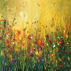 Flower painting by Georgi Petrov Landscape Art, Landscape Paintings, Fantasy Landscape, Impressionist Art, Acrylic Art, Art Pictures, Watercolor Art, Flower Painting Abstract, Abstract Oil