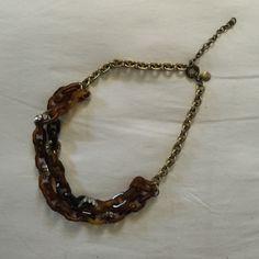 Jcrew Tortoise Shell and Sparkle Statement Great piece! J. Crew Jewelry Necklaces