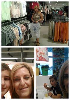Día de shopping en familia