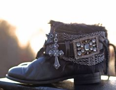 reworked upcycled cowboy boots from TheLookFactory on Etsy