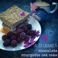 Salted Caramel and Chocolate Courgette Oat Cake