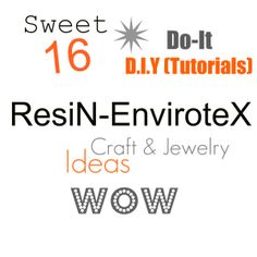 Resin Envirotex DIY Craft and Jewelry ideas Wow - so easy!  Think about feeling tiles,  life event symbols bracelets, personalized Sand Tray miniatures, and so much more!
