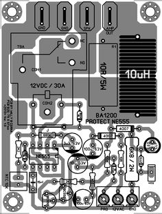 his Circuit of Audio Speaker Protector using IC 555 , Here I will present two pieces of layout scheme audio speakers protector , audio speakers protector serves as speaker protection