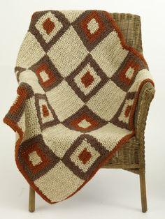 Free Crochet Pattern: Crochet Graphic Block Lapghan