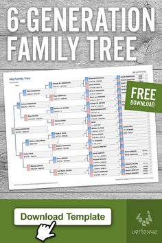 Residence and Household (Templates) Obtain a free printable Household Tree Template for Excel or Goo Family Tree Worksheet, Blank Family Tree Template, Family Tree Chart, Printable Family Tree, Family Tree Templates, Free Genealogy Sites, Genealogy Chart, Family Genealogy, Lds Genealogy