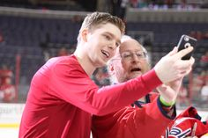 Evgeny Kuznetsov, Jay Beagle Take Adorable Selfies With Fans After the Final Game of the Season (Photos) ~Washington Capitals~