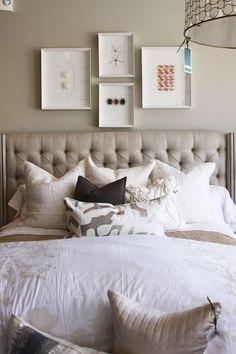 tufted linen headboard Inspiration room master bed?