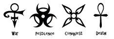 Four Horsemen Symbol | Apocalyptic symbols by Zeldaboyz