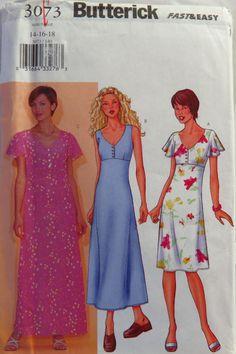 Butterick 3073 Misses' Dress