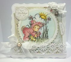 Tilda Hiding Easter Egg and Easter Background from the Little Easter collection, Magnolia DP  and Tilda Lace Doohickey Tag http://julieprice3.wordpress.com/2014/04/14/springtime/