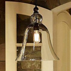 40W E27 Pendent Light with Bell Desgined Glass Shade Crystal Chandeliers light http://www.amazon.com/dp/B00FRA3GQI/ref=cm_sw_r_pi_dp_hTMvub178V2QX