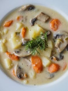Mushroom and Potato Soup Russian Mushroom and Potato Soup.I am making this for my mother in law!Russian Mushroom and Potato Soup.I am making this for my mother in law! Soup Recipes, Vegetarian Recipes, Cooking Recipes, Healthy Recipes, Potato Soup Vegetarian, Curry Recipes, Potato Recipes, Cooking Time, Recipies