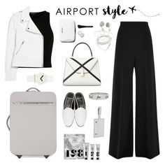 """Jet Set: Airport Style"" by deepwinter ❤ liked on Polyvore featuring STELLA McCARTNEY, River Island, Gucci, MANGO, Roland Mouret, Verso, Clava, Pierre Hardy, IDEA International and airportstyle"