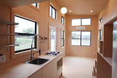24′ Modern Tiny House on wheels nomadtinyhomes