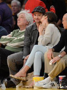 Justin Timberlake, Jessica Biel And Justin, Lakers Game, Stephanie Mcmahon, Kim And Kanye, Lovers Lane, Katherine Heigl, Betty White, Stars