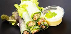 Tuna Lettuce Roll Up Wraps easy to grab and go! Turkey Wraps, Veggie Wraps, Healthy Snacks For Adults, Fresh Rolls, Tuna, Lettuce, The Cure, Veggies, Low Carb