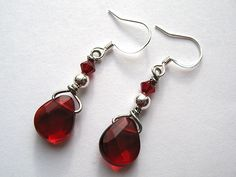 Lipstick and Valentines Earrings by LaughingStarfish, via Flickr
