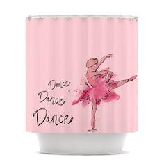 Brienne Jepkema Ballerina Shower Curtain  KESS by KessInHouse, $69.00