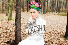 Colour hair bride