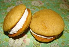 Applesauce whoopie pies with marshmallow filling