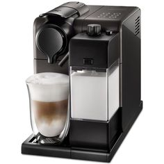 De'Longhi EN550 Nespresso Lattissima Touch Black ($720) ❤ liked on Polyvore featuring home, kitchen & dining, black and delonghi