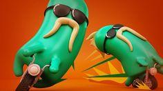 #лого #ник #персонажи Nuestros amigos de FunJob nos convocaron para realizar una serie de IDs para Nickelodeon con la idea de construir con personajes cada una de las letras del logo de nick. El desafío consistio en diseñar personajes atractivos teniendo como base la morfología del logo. 2013. www.estudioronda.com.ar