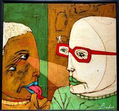 Untitled by Michael Banks Michael Banks, Atlanta Art, Outsider Art, Black Art, Contemporary Artists, Painting On Wood, Art Museum, Framed Art, Folk Art