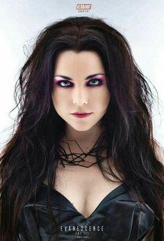 Amy Lee / Evanescence on Kerrang! Dark Beauty, Gothic Beauty, Amy Lee Evanescence, Rainha Do Rock, Women Of Rock, Goth Women, Metal Girl, Female Singers, Gothic Girls