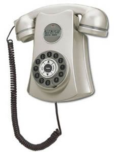 "Conair ""Metropolis 1950's Retro Wall Phone"" -Pewter"