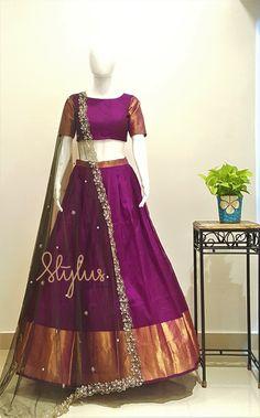 Kids Lehenga Choli, Half Saree Lehenga, Lehnga Dress, Indian Lehenga, Indian Gowns, Sarees, Half Saree Designs, Blouse Designs Silk, Lehenga Designs