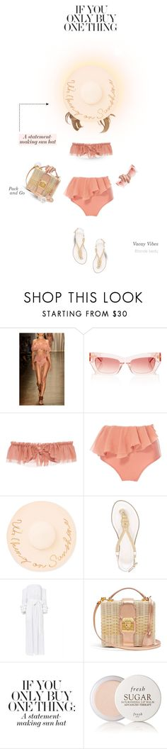 """Sunshine on my mind"" by blonde-bedu ❤ liked on Polyvore featuring Água de Coco, Eugenia Kim, MICHAEL Michael Kors, Giuseppe Zanotti, Mark Cross and Fresh"