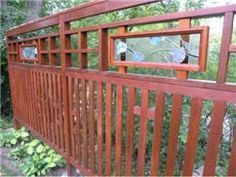 see through wood fence - Google Search