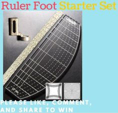 Quilting rulers the impossible and starter kit on pinterest for Ruler foot and free motion quilting template starter set