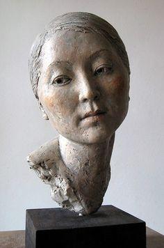 Portrait Sculpture, Sculpture Head, Sculptures Céramiques, Ceramic Sculptures, Photo Sculpture, Ceramic Sculpture Figurative, Figurative Art, Ceramic Figures, Ceramic Art