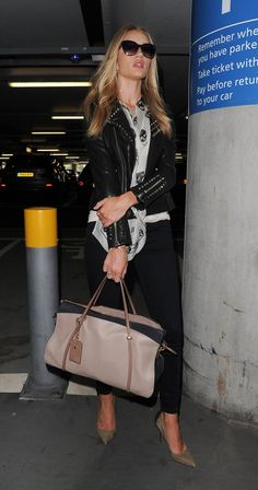 Rosie Huntington-Whiteley and Jason Statham Arrive in London
