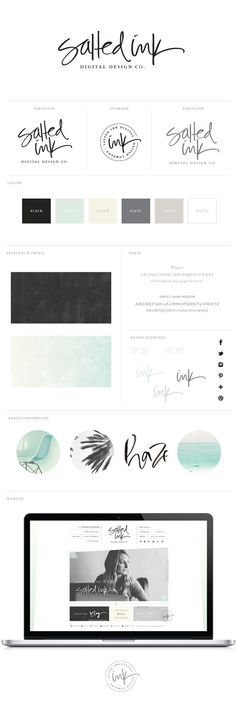 salted ink digital design studio brand style guide