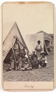 Soldiers in camp, Autumn 1862