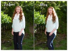 How to be Photogenic w/ Great Before and After Photos - Tips by Kate Pease Photography: Chin, down and out - Lips, wear lipstick - Shoulders, angle to camera - Hips, angle to camera w/ weight on back foot and front knee slightly bent
