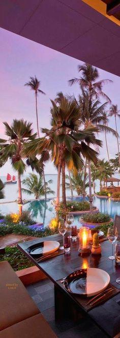 Koh Samui things to do: Sunset on Bophut Beach at Anantara Bophut Resort & Spa | Koh Samui hotel