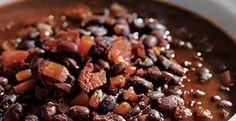 Bobby Flays Honey-Rum Baked Black Beans  | KitchenDaily.com
