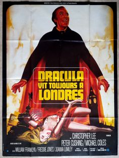 1973 The Satanic Rites of Dracula Christopher Lee Hammer French XL Movie Poster | eBay