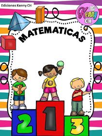 Fichas de Primaria: Portadas para cuadernos Math Border, School Binder Covers, Page Borders Design, Go Math, School Items, Montessori Activities, Teacher Hacks, First Day Of School, Math Centers