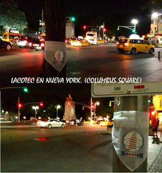 LACOTEC en Nueva York!!!!!. Columbus Square, una de las plazas mas famosas de NYC. No solo porque es el punto de entrada a Central Park sino porque es una de las plazas mas cuidadas y decoradas de NYC. Se encuentra delante del famoso edificio Turner, casa de TNT y CNN en esa ciudad, así como de la Torre Trump.