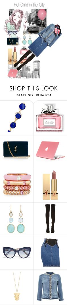 """Big City"" by rita257 ❤ liked on Polyvore featuring Pamela Love, Christian Dior, Yves Saint Laurent, Adolfo Courrier, Ippolita, Nicholas Kirkwood, Dolce&Gabbana, Moschino, Gorjana and LIU•JO"
