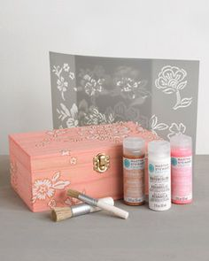 plaid watercolor box materials
