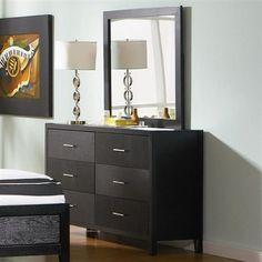 Grove Casual Black Wood Dresser