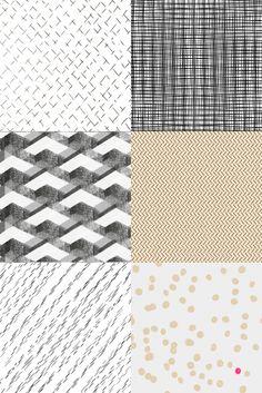A playful take on patterns. #stitches #stripes #pebbles
