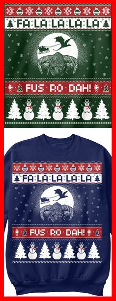 Skyrim anyone?  Grab this awesome Christmas sweatshirt by clicking the image.  FUS RO DAH!