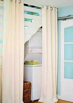 Curtain idea for in between my bathroom and laundry room